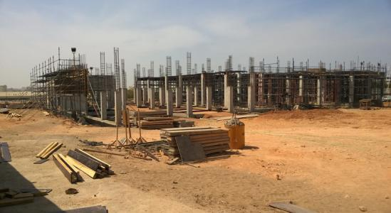 Oman PET Site unfinished construction, March 2015